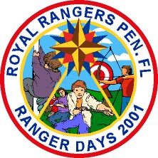 Royal Rangers Scout Activity Custom Line Art Patch