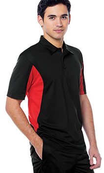 B661 Wicking Performance color blocking Polo mens
