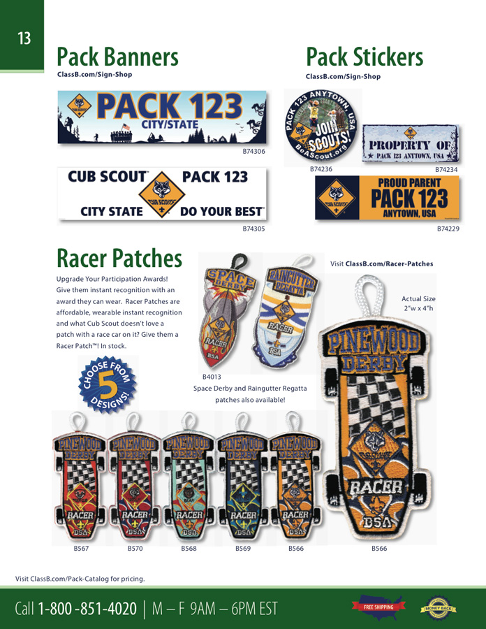 ClassB Webelos den custom embroidered patches and wood badge course gear