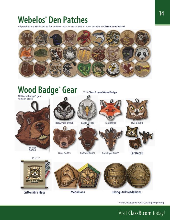 ClassB cub scout pack custom t-shirt catalog back cover