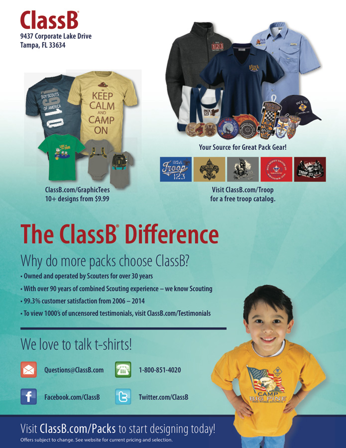 Custom ClassB cub scout pack t-shirts