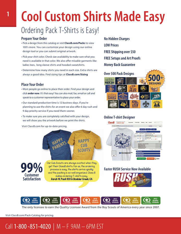 Custom cub scout pack catalog t-shirt ordering made easy
