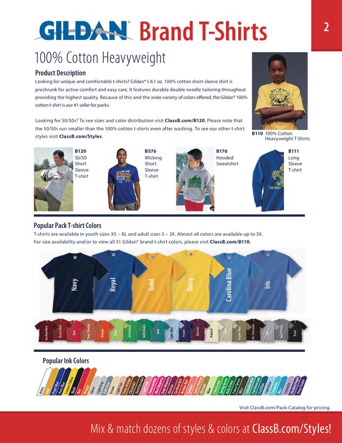 Gildan 100% cotton t-shirts