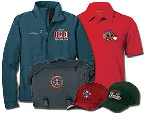 Custom boy scout troop Embroidered Garments