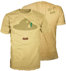 boy scout b-p mustache graphic t-shirt
