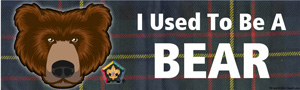 Custom Bear Wood Badge Course Bumper Sticker