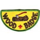 wood badge scouting axe log patch