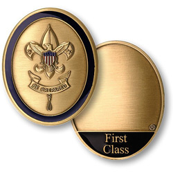 First rank boy scout custom coin