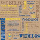 webelos and cub scout promise scrapbooking paper and sheets