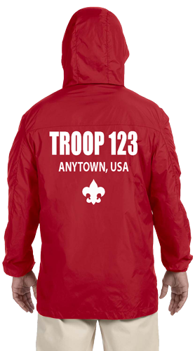 Red Custom boy scout troop jacket