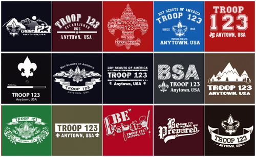 custom boy scout troop stock design ideas for jackets