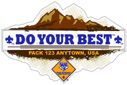 Do Your Best Cub Scout Pack Window Sticker