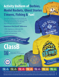classb Cub Scout Pack ad for custom t-shirts in scouting magazine
