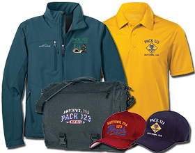 Custom Cub Scout Pack Embroidered Garments