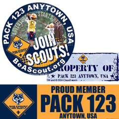 Custom Cub Scout Window Stickers and Bumper Stickers