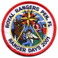 custom royal ranger boy scout troop patch sew out