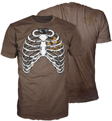 usa ribcage graphic t-shirt