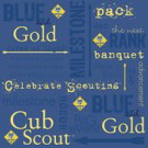 Blue and gold event cub scout scrapbooking sheets and paper
