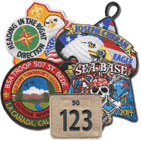 Custom boy scout Troop Patches