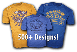 cub scout pack design ideas for custom t-shirts over 500 choices