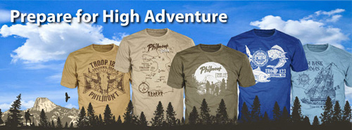 BSA high adventure custom t-shirts