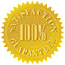 Money Back Guarantee gold foil badge