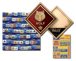 cub scout retail items like cub scout coins and cub scout scrapbooking