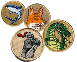 Boy scout troop patrol patches