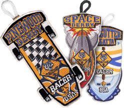 Cub Scout Pack pinewood derby racer patch