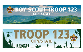 Custom boy scout Troop Banners