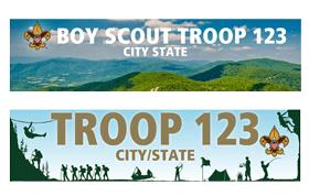 Custom Troop Banners