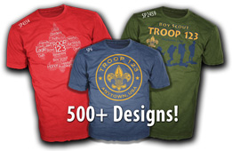 boy scout troop design ideas for custom t-shirts over 500 choices