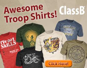Custom ClassB Boy Scout troop designs