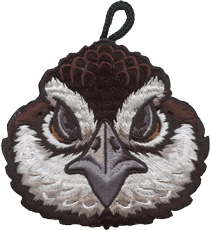 ClassB wood badge bobwhite critter head patch