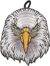 wood badge eagle critter head patch