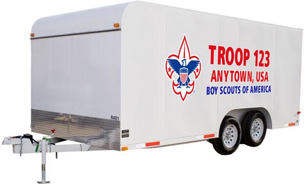 boy scout troop trailer graphics