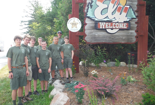 boy scout troop photo wearing custom troop t-shirts from ClassB
