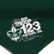 custom boy scout troop neckerchiefs