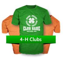 4-H Club custom t-shirts