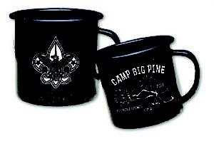 B556 18 oz. Metal Porcelain Campfire Mug custom printed for boy scouts