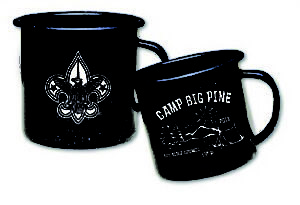 B556 18 oz. Metal Porcelain Campfire Mug custom printed for boy scouts