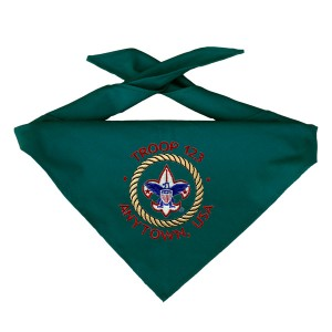 Custom Embroidered boy scout neckerchief