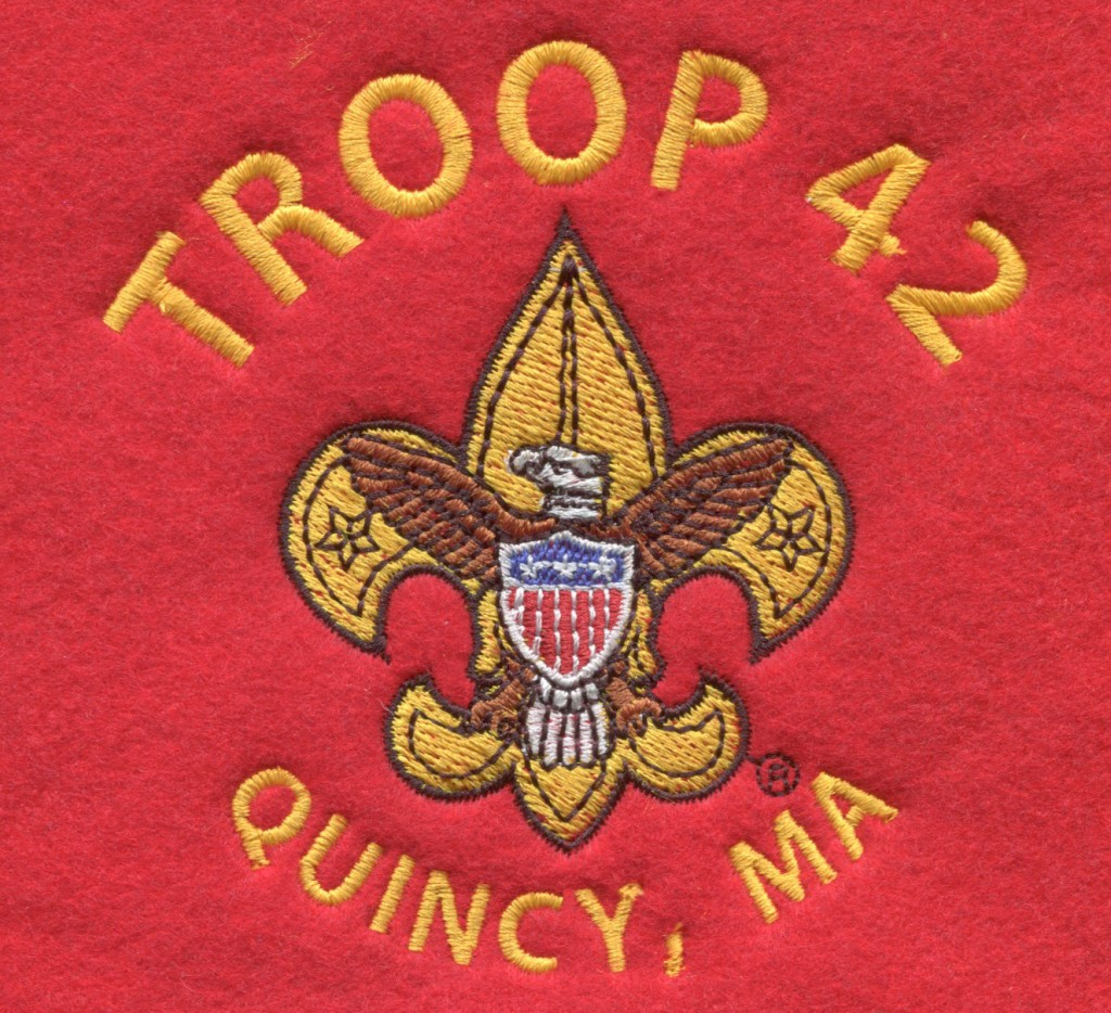Custom boy scout troop embroidery