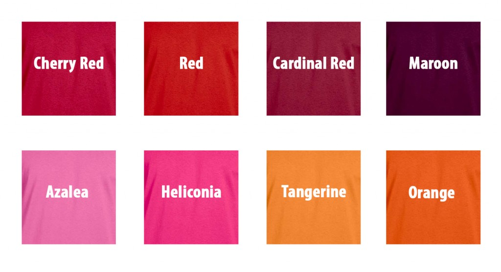 Reds-Oranges-Pinks