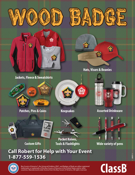 BSA council wood badge custom t-shirts and patches