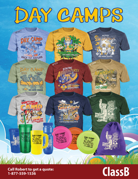 BSA council day camp custom cub scouts t-shirts and gear