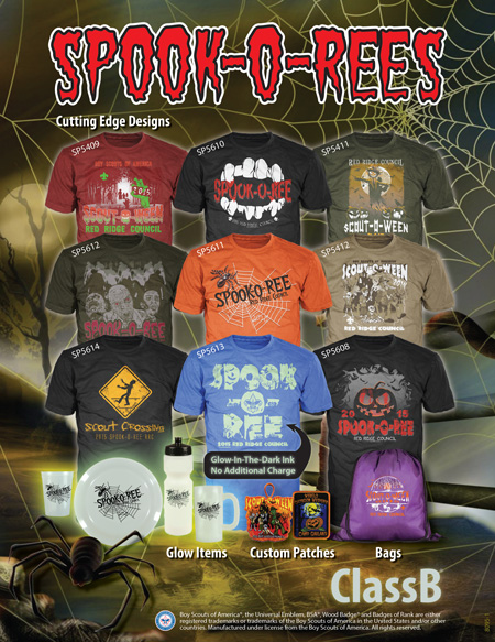 BSA council spook-o-ree custom t-shirts and gear