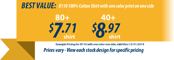 Custom t-shirts for Kiwanis as low as 6.98