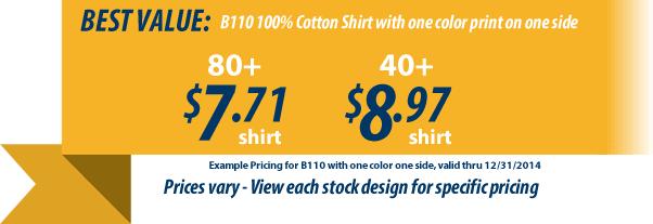 Custom t-shirts for Kiwanis as low as 6.98