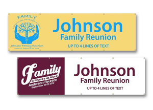 Custom Family Reunion Banners and Signs